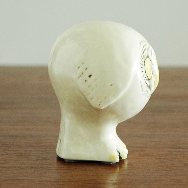 スウェーデンの森の白いふくろう Lisa Larson(リサ ラーソン) 北欧オブジェ・置物【限定品】