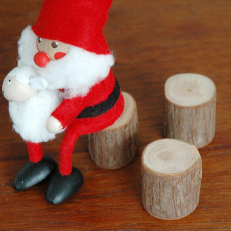 丸太台(お座り人形用) NORDIKA design(ノルディカ・デザイン)エストニア・ハンドメイド木製オブジェ・置物