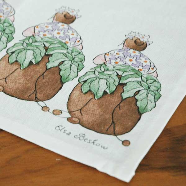 エルサべスコフ・キッチンタオル45×65cm Mrs Potatoes(ポテト婦人)DESIGN HOUSE stockholm(デザインハウス ストックホルム)