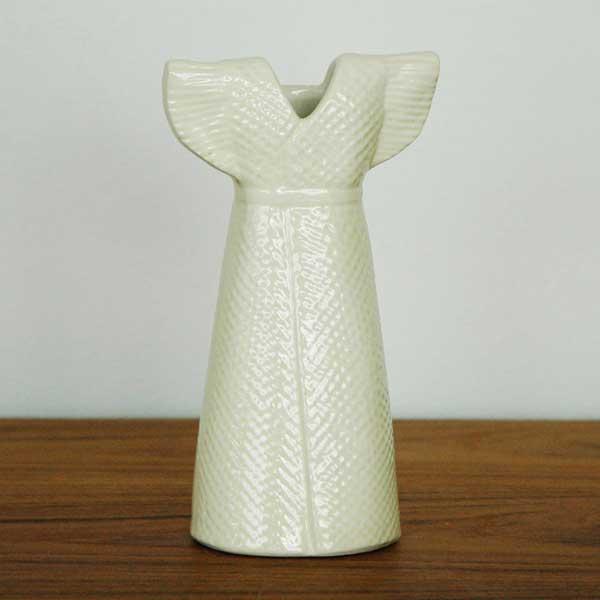 Wardrobe Vases Dress(ワードローブ・ドレス)レモンイエロー Lisa Larson(リサラーソン) フラワーベース オブジェ