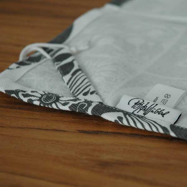 ビヨン・ヴィンブラッド Bjorn Wiinblad Tea Towelティータオル・キッチンタオル50×70cm ダークグレー