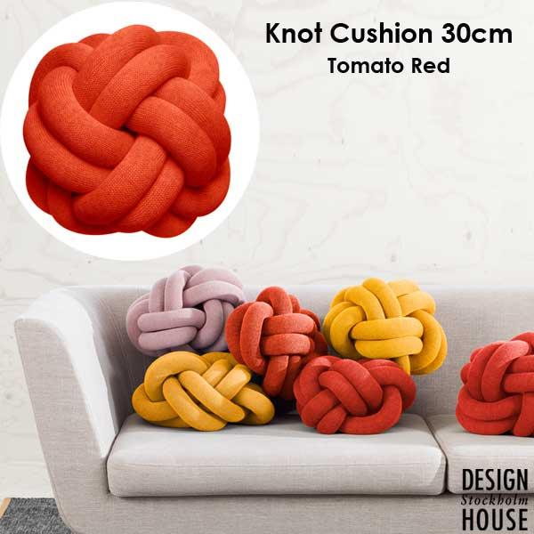 Knot Cushion(ノットクッション)30cm Tomato Red(トマトレッド)DESIGN HOUSE stockholm(デザインハウス ストックホルム)