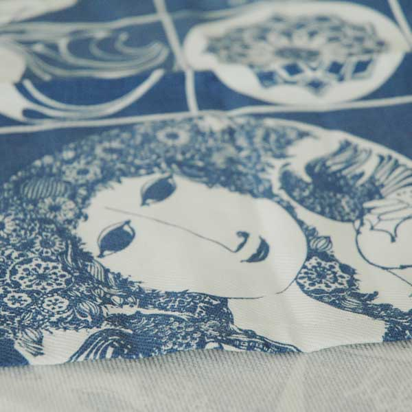 ビヨン・ヴィンブラッド Bjorn Wiinblad Tea Towelティータオル・キッチンタオル50×70cm ブルー