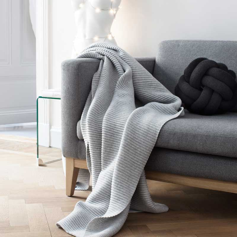 Knot Cushion(ノットクッション)30cm anthracite(アントラシート)炭色  DESIGN HOUSE stockholm(デザインハウス ストックホルム)