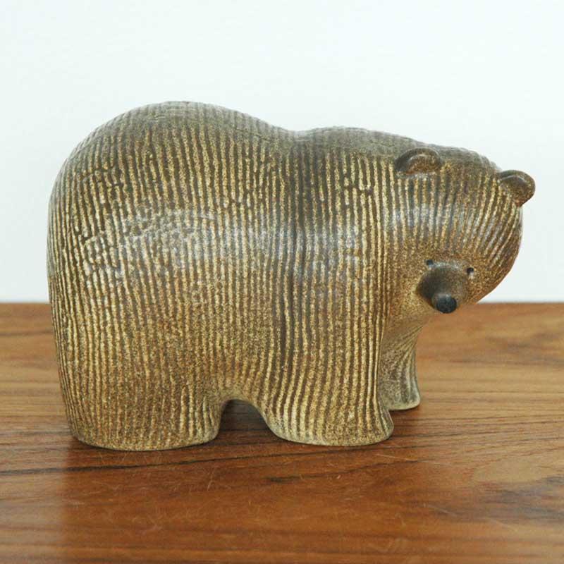 Bear(ベア)クマ・ミディアムサイズ SKANSENシリーズ Lisa Larson(リサ・ラーソン) 北欧オブジェ・置物