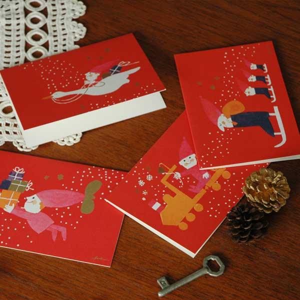 【販売終了】Ib Antoni (イブ・アントーニ) X'mas Greeting CardクリスマスグリーティングカードSwan(スワン)