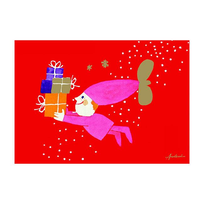 【販売終了】Ib Antoni (イブ・アントーニ) X'mas Greetingcardクリスマスグリーティングカード Child with Prezents