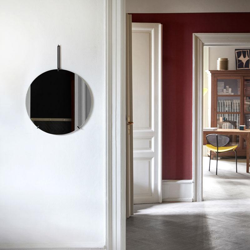 Wall Mirror 30cm(ウォールミラー)ブラック 壁掛けミラー MOEBE(ムーベ) デンマーク