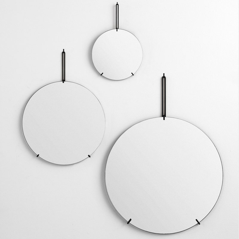 Wall Mirror 50cm(ウォールミラー)ブラック 壁掛けミラー MOEBE(ムーベ) デンマーク