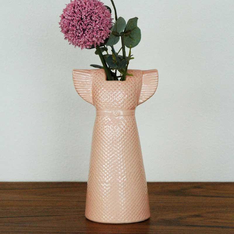 Wardrobe Vases Dress(ワードローブ・ドレス)ピンク/Lisa Larson(リサラーソン)/フラワーベース・オブジェ