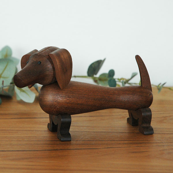 Kay Bojesen(カイ・ボイスン) DOG(ドッグ)ダックスフンド 木製オブジェ デンマーク 39201