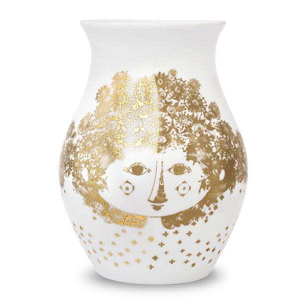 【販売終了】ビヨン・ヴィンブラッド Bjorn Wiinblad Flower Vase(フラワーベース)H18cm Felicia(フェリシア)・ゴールド 55253
