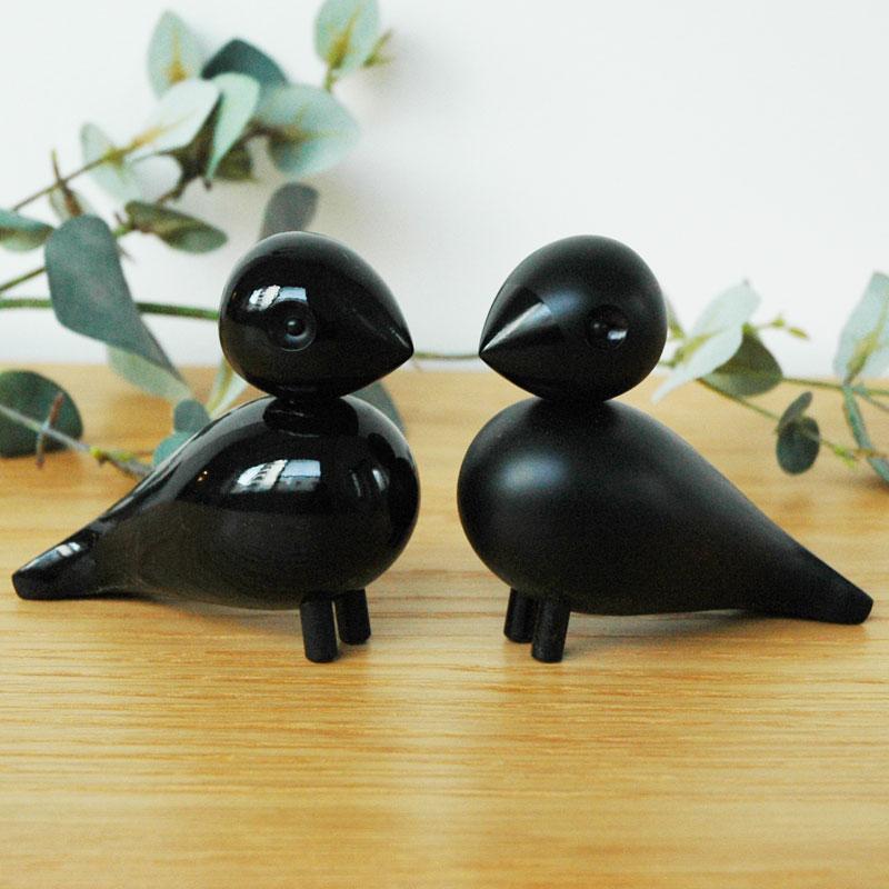 Kay Bojesen(カイ・ボイスン) Love Birds Black(ペア・ラブバード・ブラック)木製オブジェ デンマーク