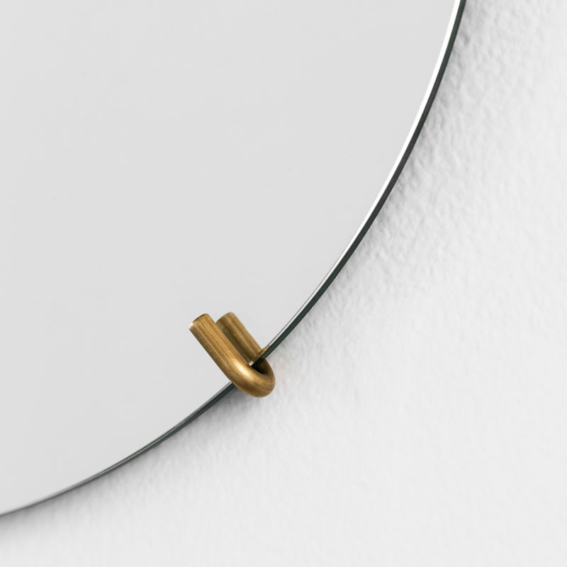 Wall Mirror 50cm(ウォールミラー)ブラス(真鍮) 壁掛けミラー MOEBE(ムーベ) デンマーク