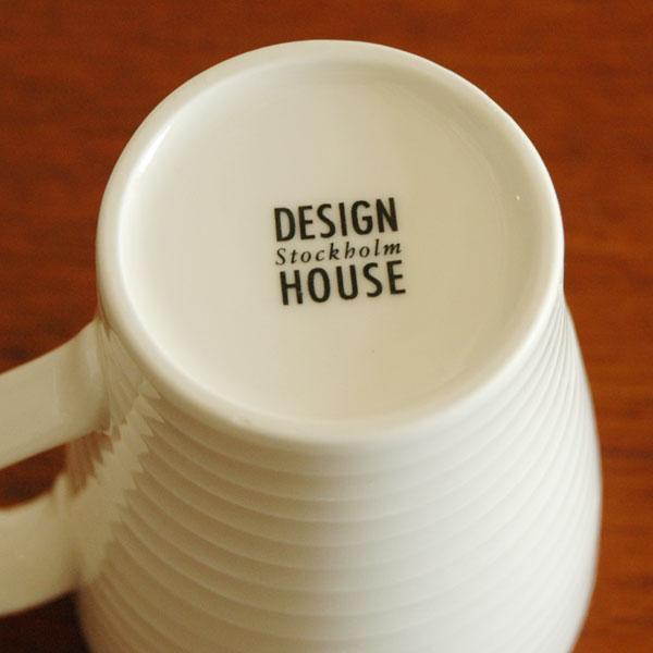 Blond マグカップ Grayグレー・ストライプ DESIGN HOUSE stockholm(デザインハウス・ストックホルム)