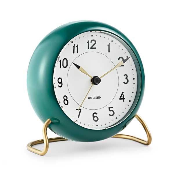 ARNE JACOBSEN TableClock STATIONアルネヤコブセン・テーブルクロック・ステーション・グリーン 置き時計 ROSENDAHL COPENHAGEN (ローゼンダール社 コペンハーゲン)