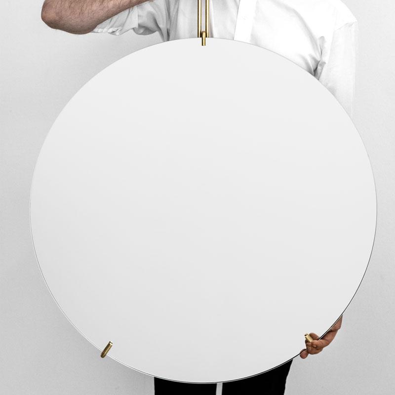 Wall Mirror 70cm(ウォールミラー)ブラス(真鍮) 壁掛けミラー MOEBE(ムーベ) デンマーク