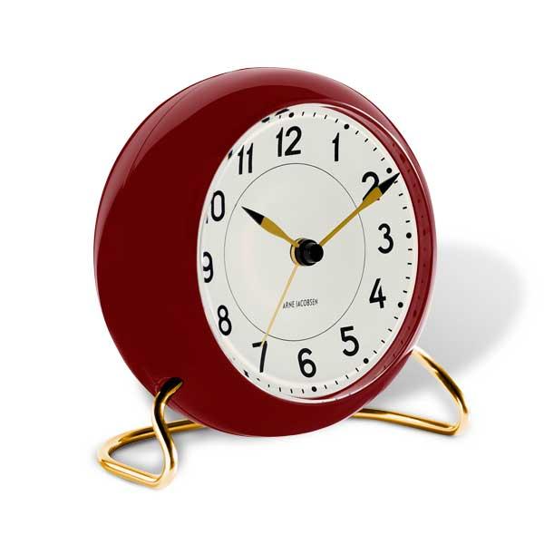 ARNE JACOBSEN TableClock STATIONアルネヤコブセン・テーブルクロック・ステーション・バーガンディ 置き時計 ROSENDAHL COPENHAGEN (ローゼンダール社 コペンハーゲン)