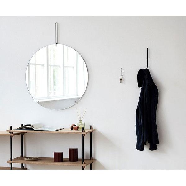 Wall Mirror 50cm(ウォールミラー)クローム 壁掛けミラー MOEBE(ムーベ) デンマーク