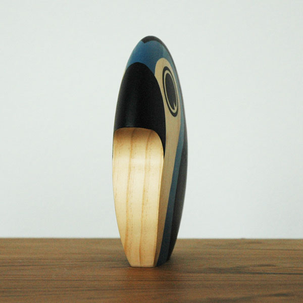 Discus(ディスカス)ミディアム Bird ブルー ARCHITECTMADE(アーキテクトメイド)デンマーク 北欧木製オブジェ・置物