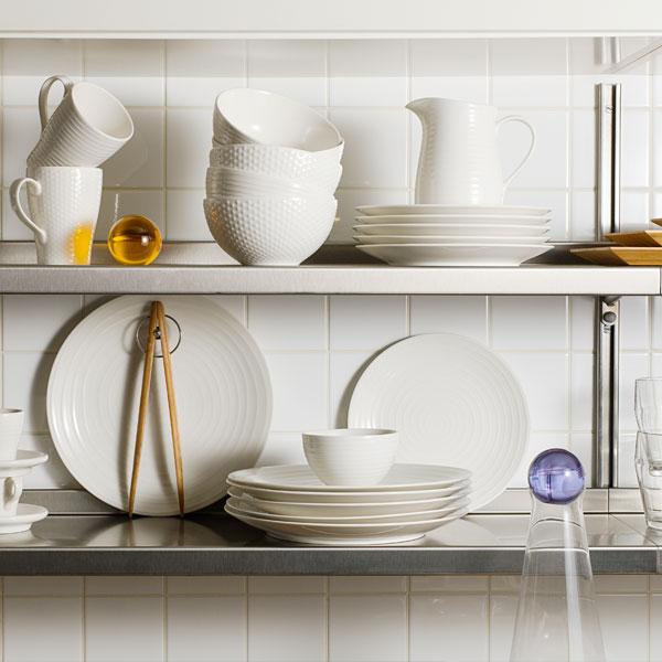 Blond Small Bowl(ブロンド スモールボウル)グレー・ストライプ DESIGN HOUSE stockholm(デザインハウス ストックホルム)
