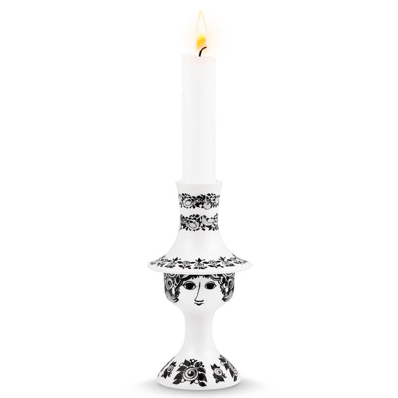 ビヨン・ヴィンブラッド Bjorn Wiinblad Candle Holder(キャンドルホルダー)ロザリン ブラック H16.5cm 北欧デンマーク