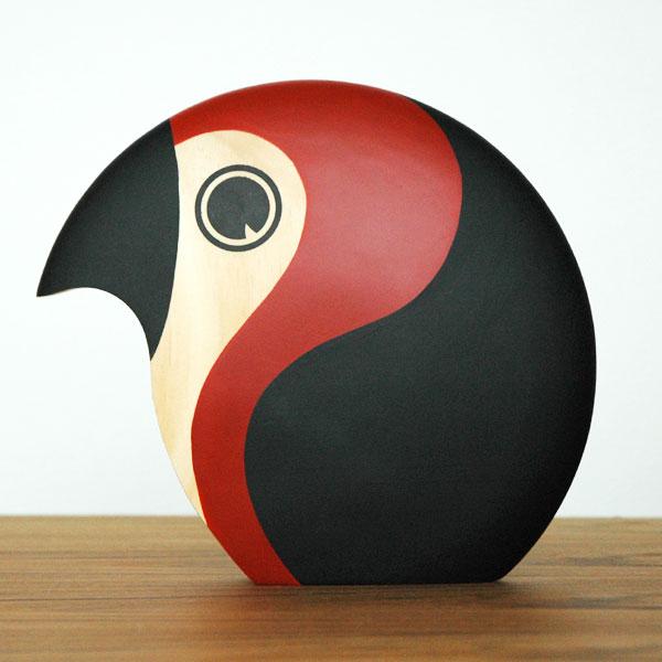 Discus(ディスカス)ラージ Bird Red ARCHITECTMADE(アーキテクトメイド)デンマーク 北欧木製オブジェ・置物 375