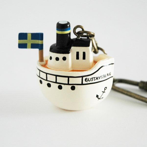 リサラーソンLisa Larson・キーホルダー Boat(ボート)