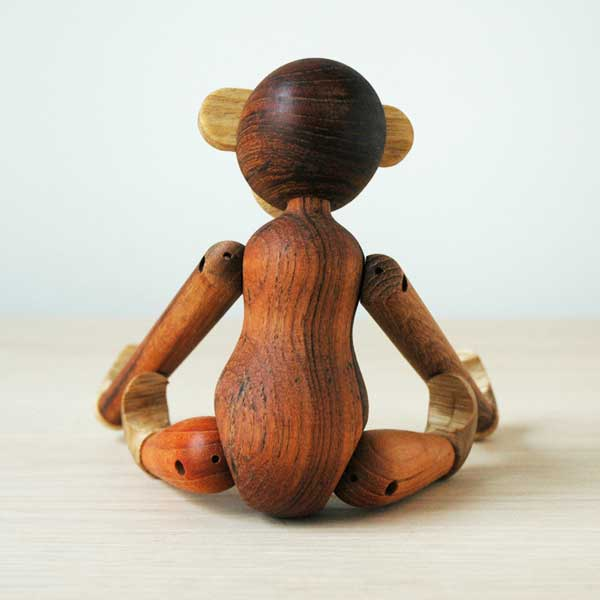 Kay Bojesen(カイ・ボイスン) MONKEY(モンキー)Sサイズ チーク*リンバ 木製オブジェ デンマーク