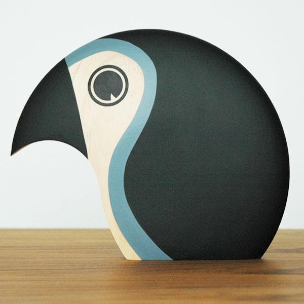 Discus(ディスカス)ラージ Bird グレー ARCHITECTMADE(アーキテクトメイド)デンマーク 北欧木製オブジェ・置物 370