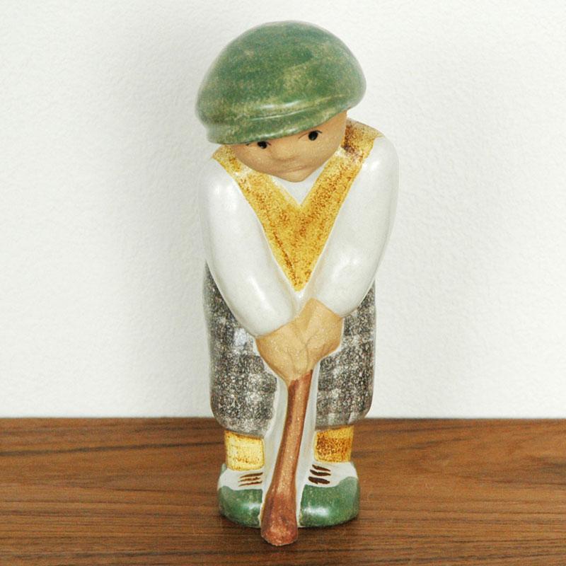 Golf Player Man(ゴルフプレーヤー・マン) Lisa Larson(リサ ラーソン) 北欧オブジェ・置物