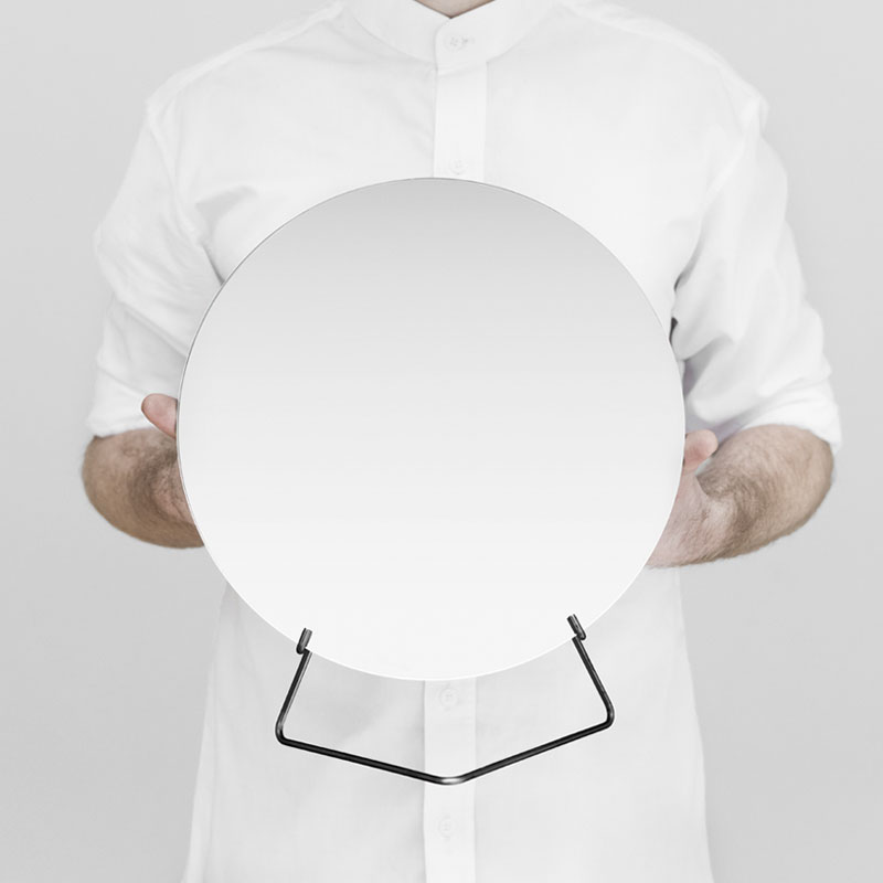 Standing Mirror(スタンディングミラー) 30cm ブラック 卓上ミラー MOEBE(ムーベ) デンマーク