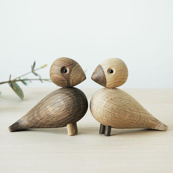 Kay Bojesen(カイ・ボイスン) Love Birds(ペア・ラブバード)木製オブジェ デンマーク 39204