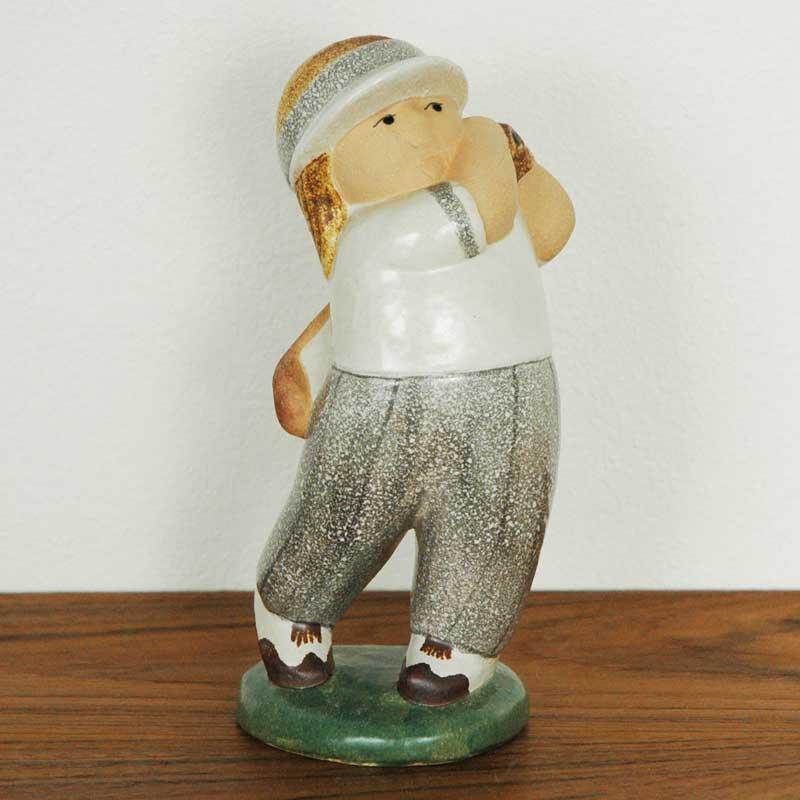 Golf Player Woman(ゴルフプレーヤー・ウーマン) Lisa Larson(リサ ラーソン) 北欧オブジェ・置物
