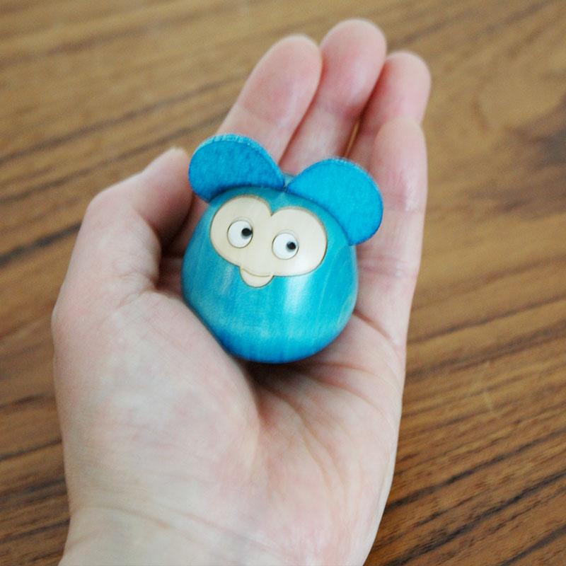 Lisa Larson(リサ・ラーソン)こけし 子ネズミ・ブルー Japan Seriesジャパンシリーズ・Kokechi 群馬県