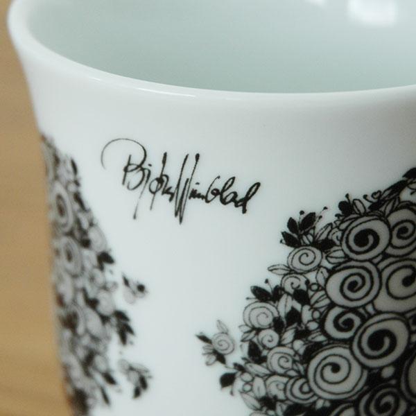 ビヨン・ヴィンブラッド Bjorn Wiinblad マグカップRosalinde Mug(ロザリン・マグ)ブラック 北欧デンマーク 52101