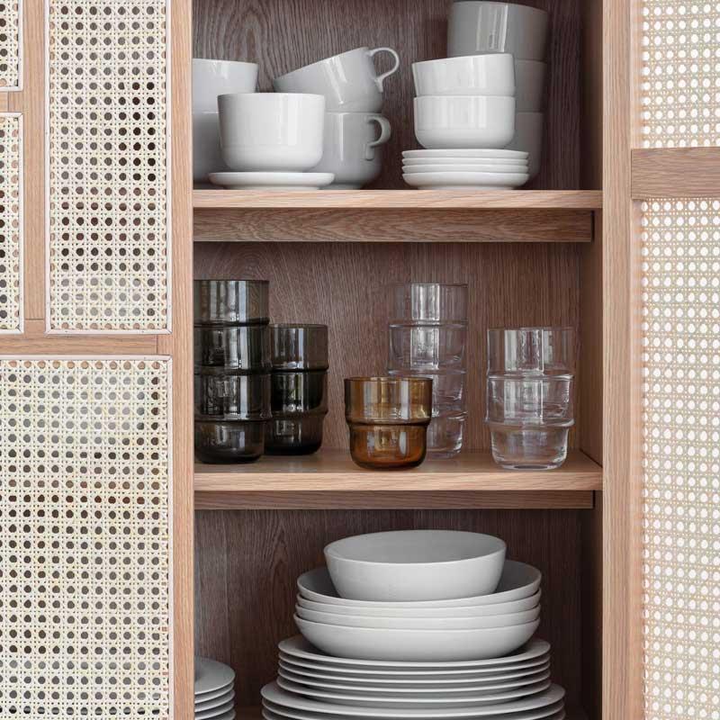 Unda Glass(ウンダグラス)2個セット クリアー DESIGN HOUSE stockholm(デザインハウス ストックホルム)北欧食器