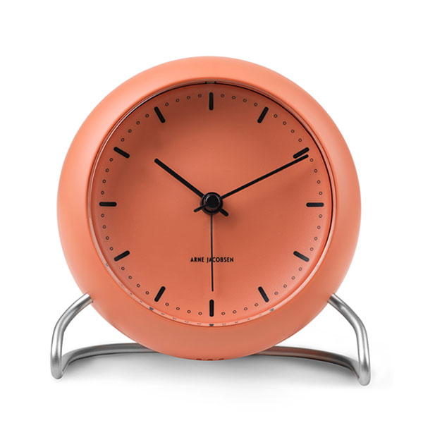 ARNE JACOBSEN TableClock CityHall PALE ORANGE アルネヤコブセン・テーブルクロック・シティホール ペールオレンジ 置き時計 ROSENDAHL COPENHAGEN (ローゼンダール社 コペンハーゲン)43692