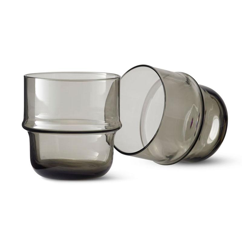 Unda Glass(ウンダグラス)2個セット グレー DESIGN HOUSE stockholm(デザインハウス ストックホルム)北欧食器