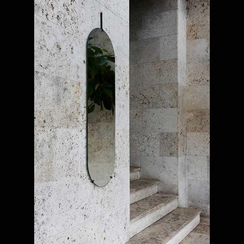 Tall Wall Mirror(トールウォールミラー)W44×H147cm ブラック 壁掛けミラー MOEBE(ムーベ) デンマーク