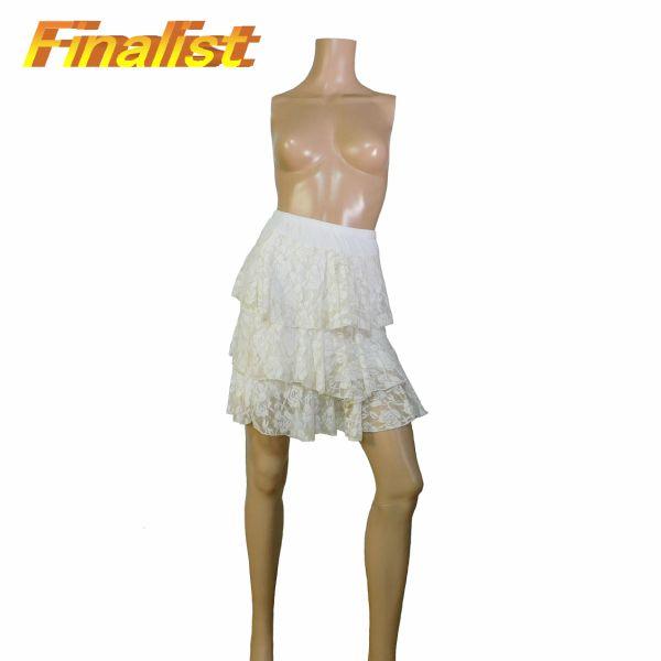 中古スカート 3段 白花柄 社交ダンス