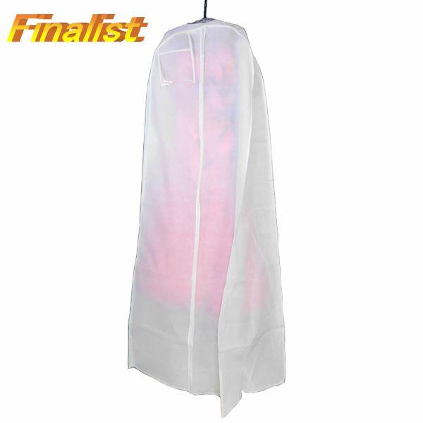 不織布ドレスカバー ロング 180cmフレアー白 社交ダンス ウェディングドレスカバー