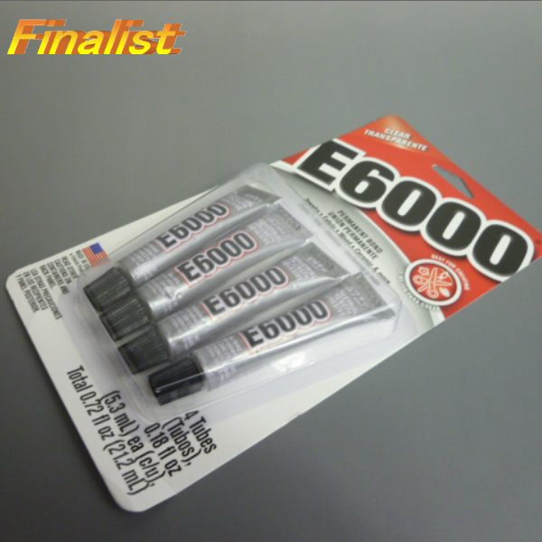 E6000 接着剤 ミニチューブ 0.18oz 5.3mlX4チューブ スワロフスキー用ボンド 送料無料追跡可能メール便で発送での発送