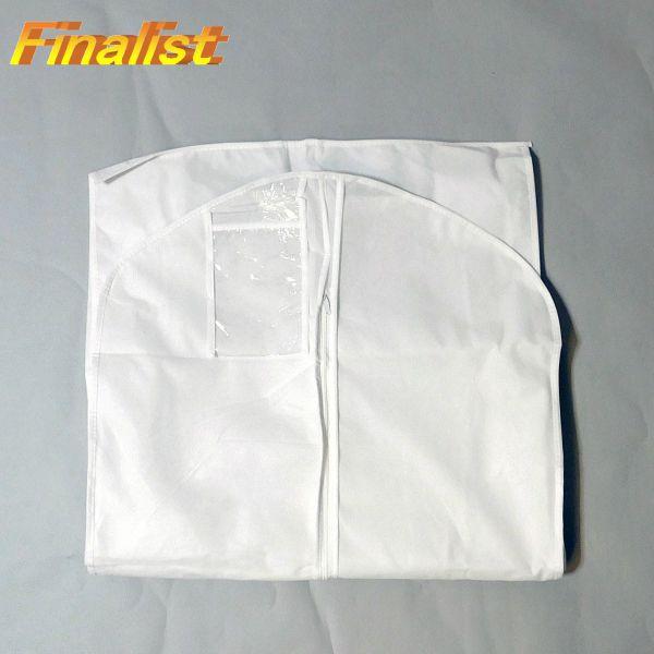 不織布ドレスカバー  ロング 180cm マチ付き 白 ウェディングドレスカバー