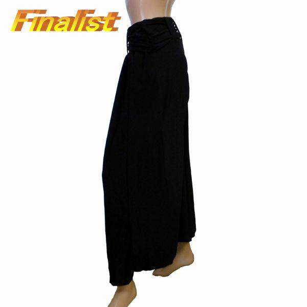 中古 社交ダンススカート 黒ワイドパンツウエストゴム