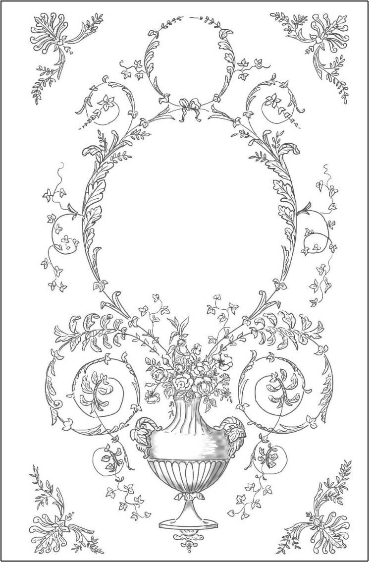 トールペイント ご自分で描く図案付無塗装白木素材  cwk-266 バラのプレート(シルクスクリーン付き)