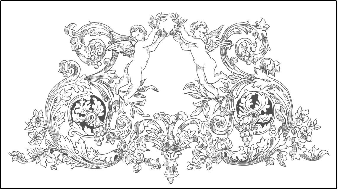 トールペイント ご自分で描く図案付無塗装白木素材  cwk-267 初夏の花々(シルクスクリーン付き)