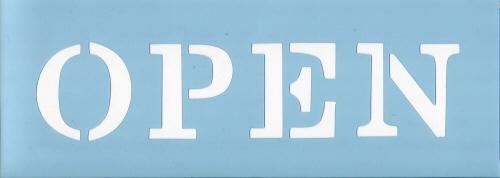 ファインホームのステンシルシート オープン1 fh-836