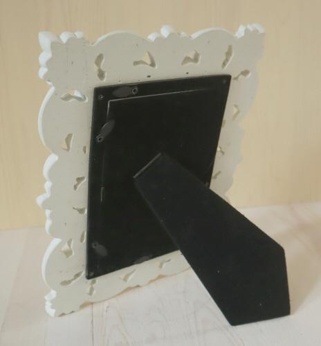 トールペイント エレガントフレーム FF-019 白塗装 アンティーク仕上げ