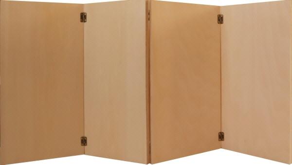 トールペイントご自分で描く図案付白木素材キット 4曲屏風 松に鶴 cwk-243 丁番6ヶビス付き